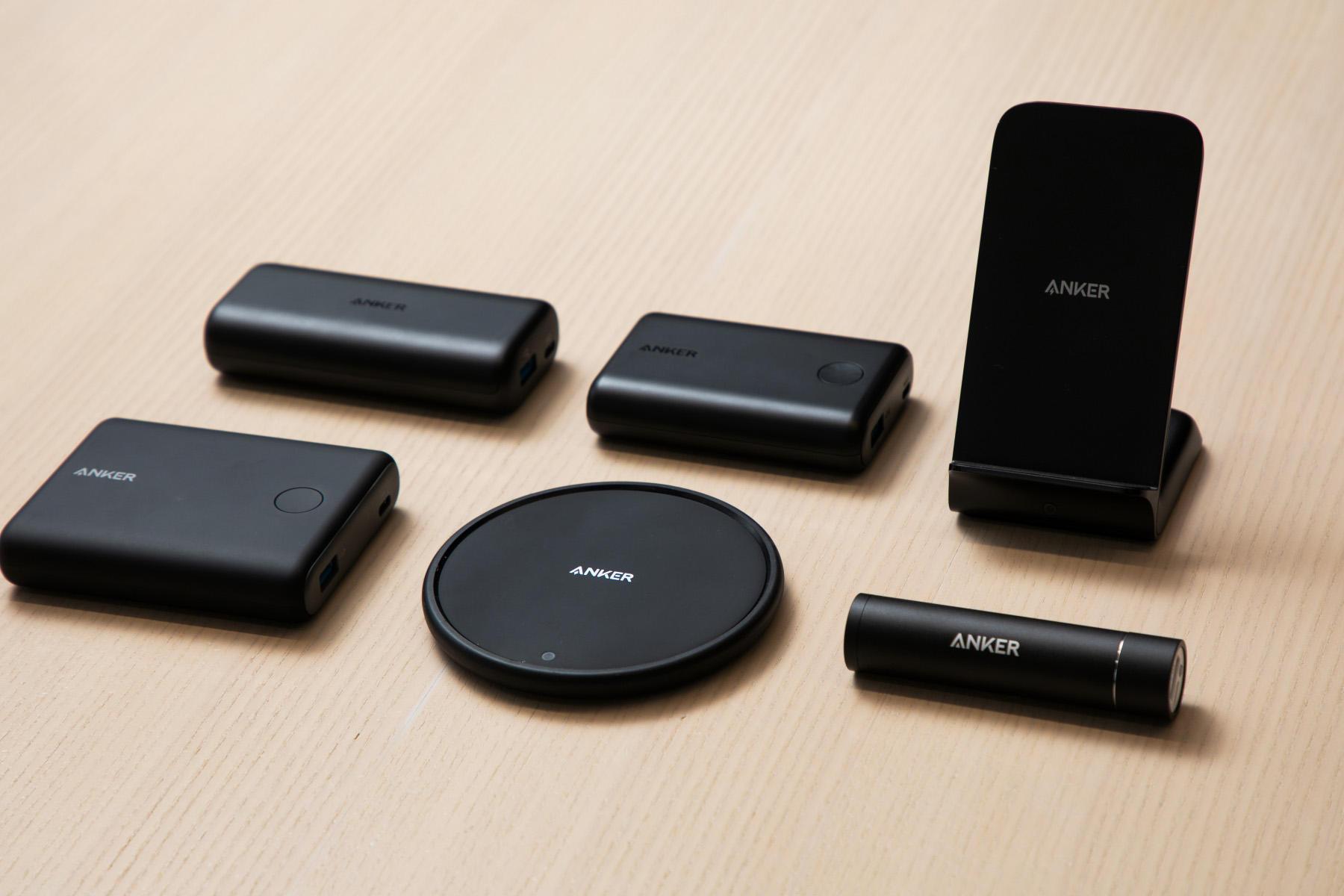 サイズや容量、様々なバリエーションがあるAnkerのモバイルバッテリー