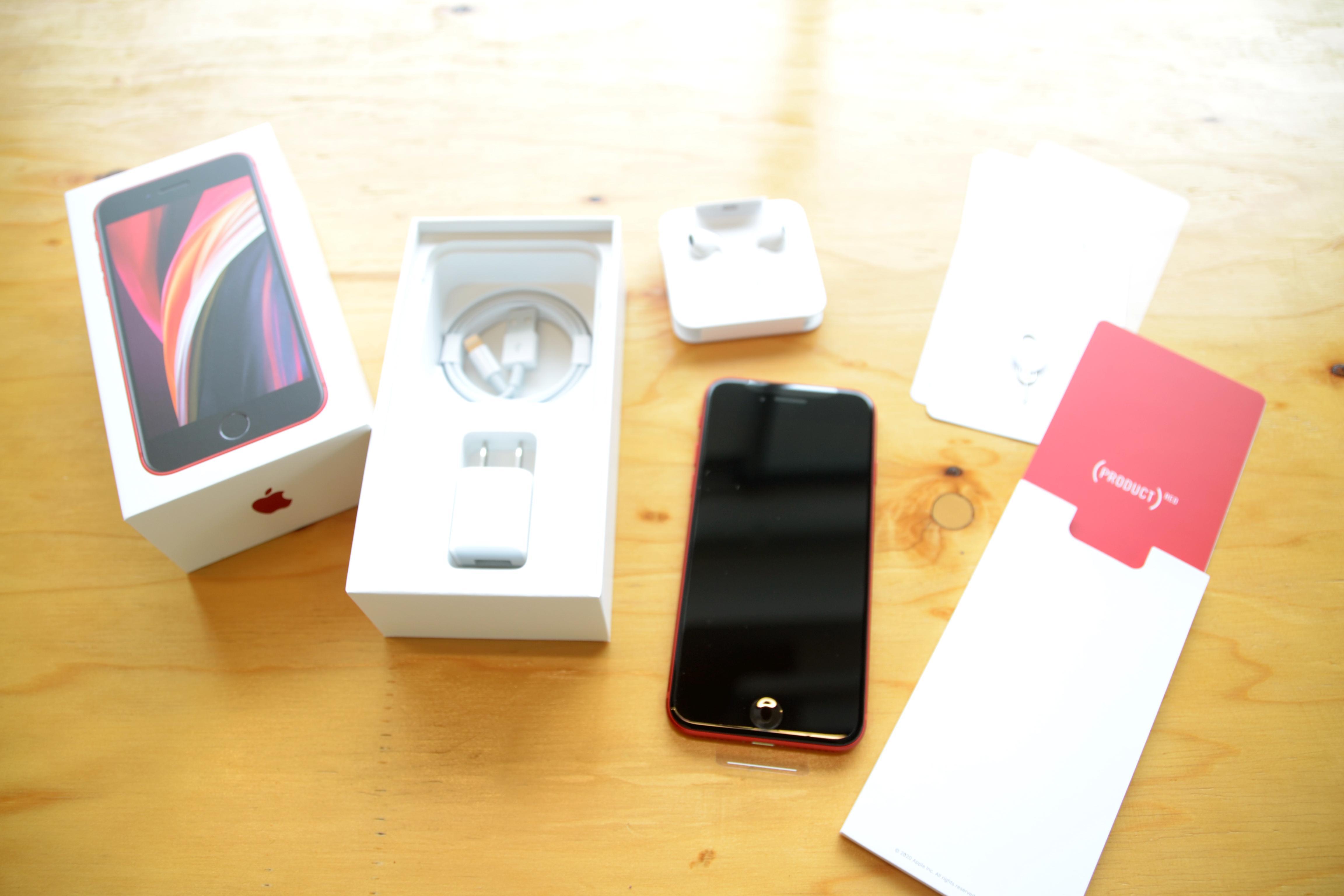 iPhone SE(第二世代)に入っていたものの画像