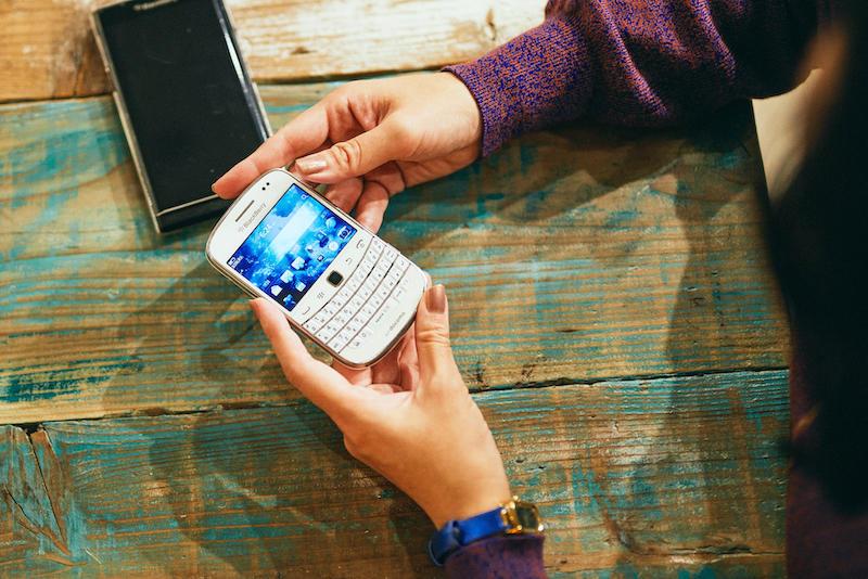 辛酸なめ子さんのBlackBerry Bold 9900
