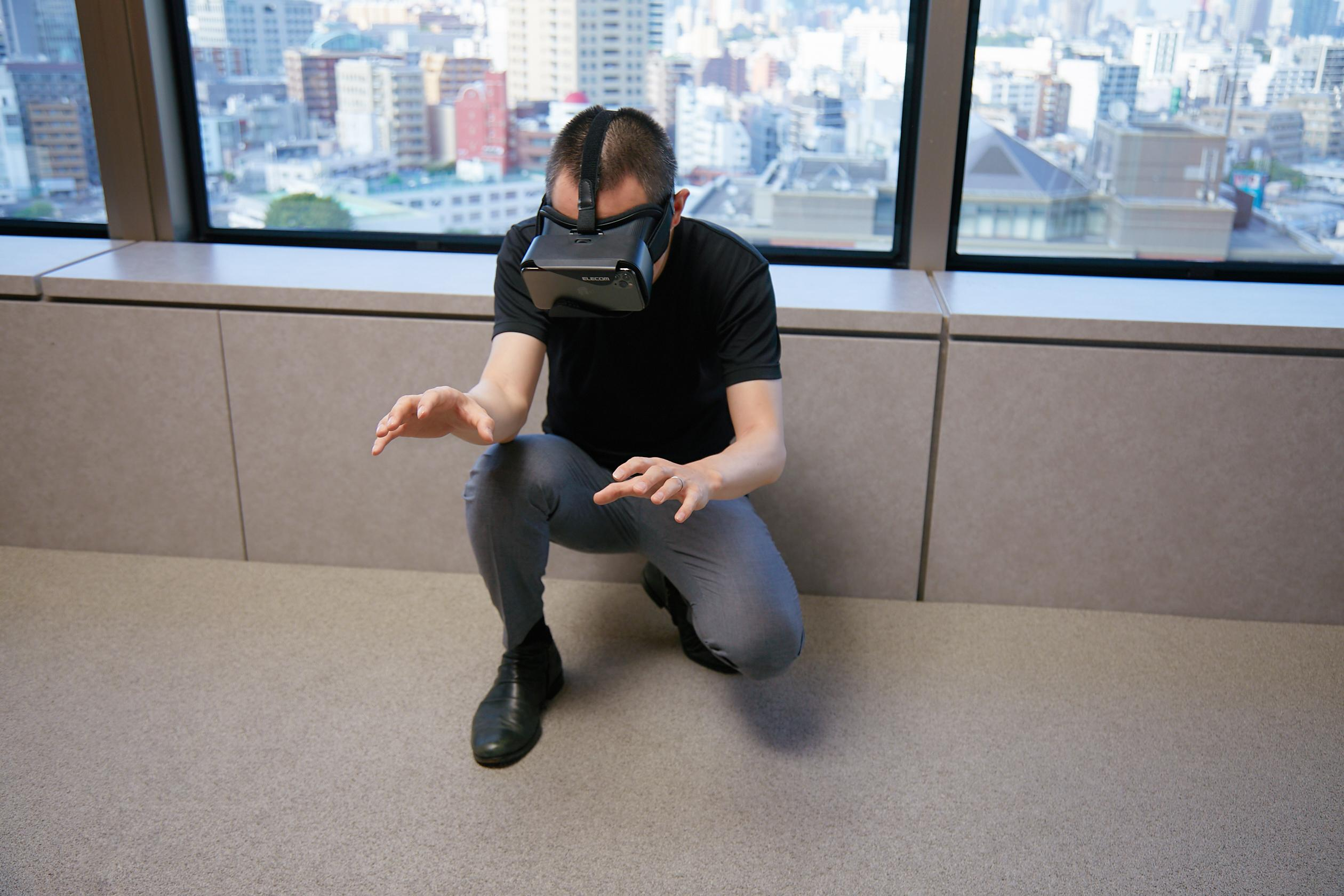 VR体験中の写真