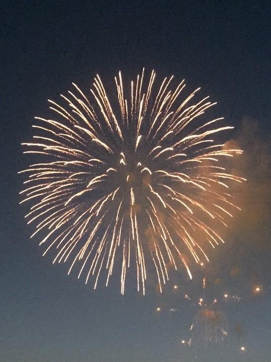 普通に撮った花火の写真例