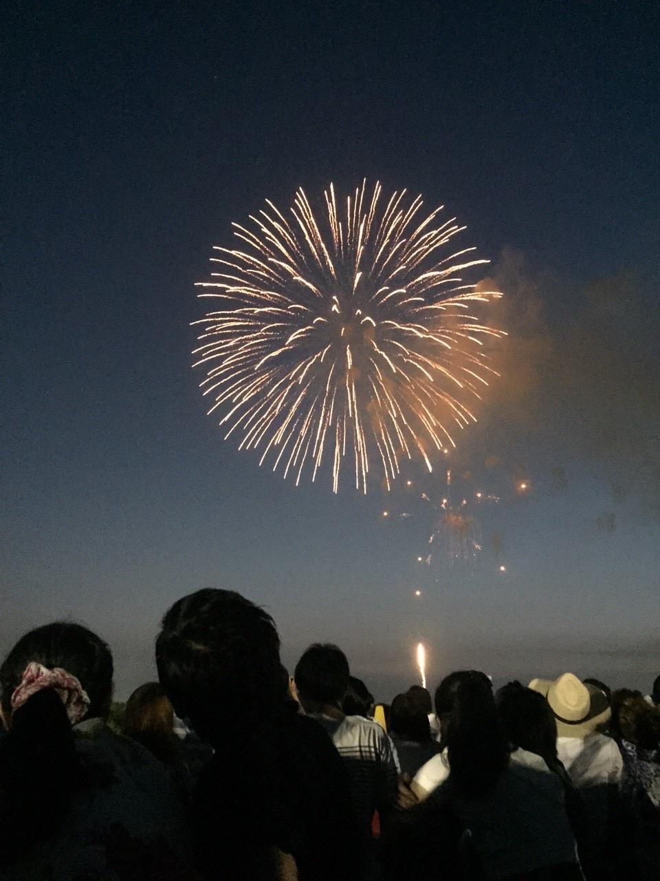 ストーリーを意識した花火の写真例